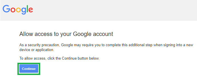 Give Captcha access to your google account