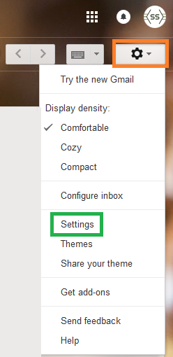 login with your gmail account and go to settings